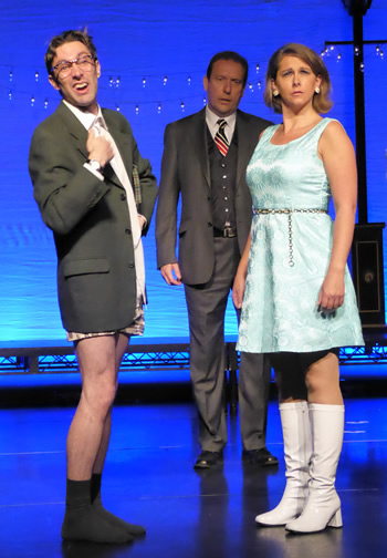 David Beddard (Mr Shanks), Tony Parkinson (Dr Wicksteed) and Michelle Barter (Felicity)