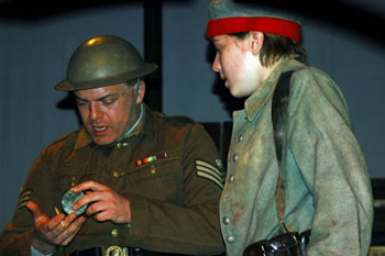 Sergeant Major (Paul Dodman) & German Soldier (Alfie Tyson-Brown)
